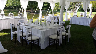 Tables, Chairs, Linens
